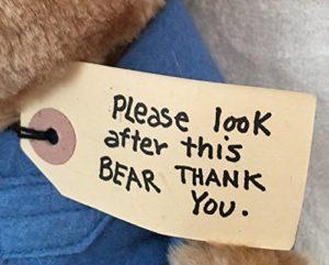 Por favor, cuiden este oso
