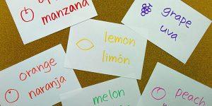 Flashcards en inglés y español