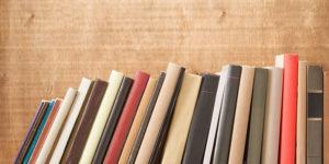 Montón de libros ordenados