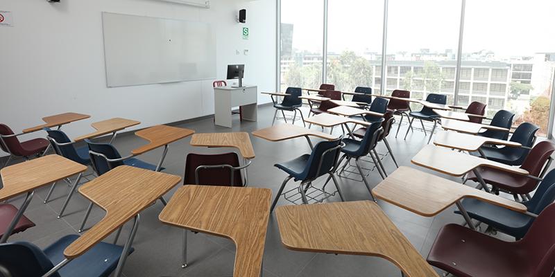 Salón de clases en el Británico