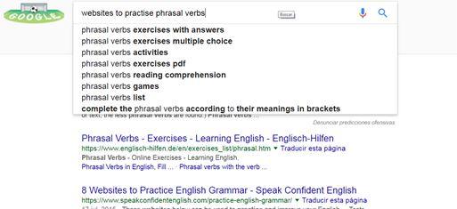 Más palabras clave sobre búsquedas de Phrasal Verbs