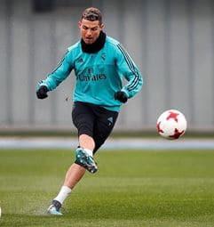 Cristiano Ronaldo practicando