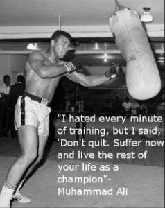 Frase motivacional de Muhammad Ali