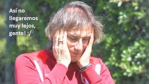 Ricardo Gareca preocupado