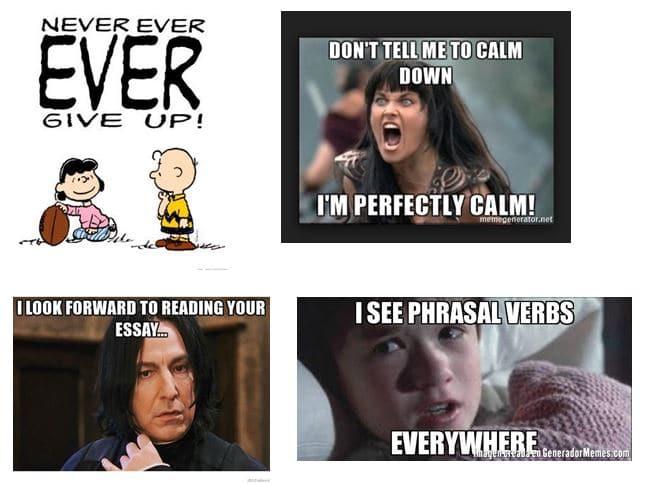 memes sobre phrasal verbs